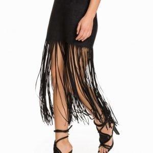 NLY Trend Cut Fringe Skirt