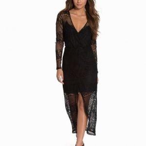 NLY Trend Draped V Front Maxi Dress Svart