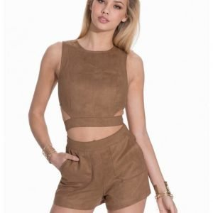 NLY Trend Faux Suede Top