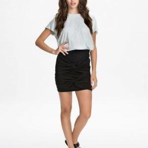 NLY Trend Front Draped Skirt Grå Melange