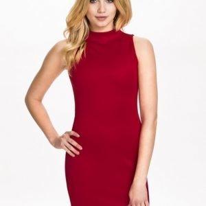 NLY Trend High Neck Scuba Dress Svart