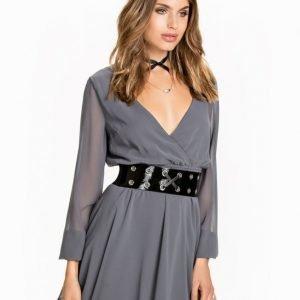 NLY Trend Lace Neckline Wrap Dress