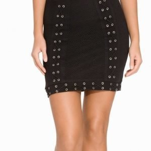 NLY Trend Lace Up Mesh Skirt