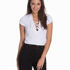 NLY Trend Lace Up That Top Grey Melange