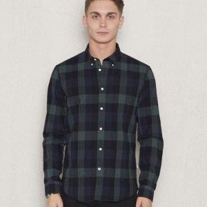 NN07 Falk Shirt 735 Green Check