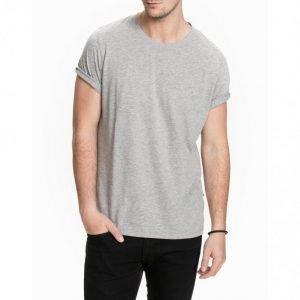 NN.07 Pima Plain Tee 3208 T-paita Grey Melange