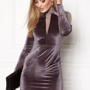 NaaNaa Choker Neck Bodycon Grey