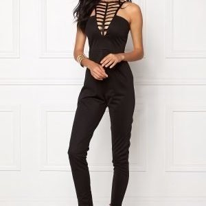 NaaNaa Strappy Neck Detail Black