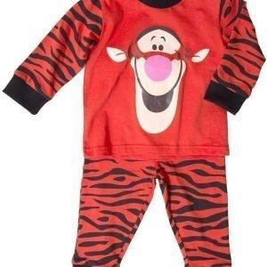 Nalle Puh Disney Nalle Puh Pyjama Tikru Vauvan Orange/Black