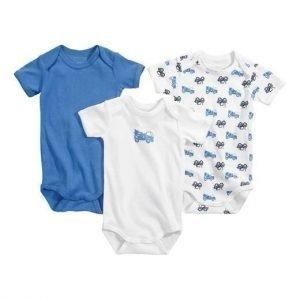 Name it Body 3-Pakkaus Sininen Valkoinen Kuvioitu