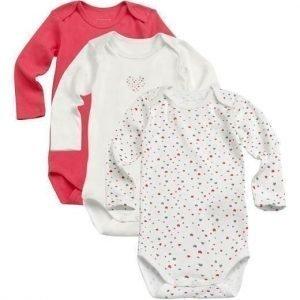 Name it Body 3-Pakkaus Vadelmanpunainen Valkoinen Kuvioitu