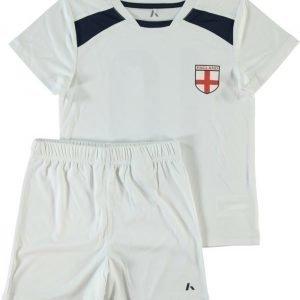 Name it Jalkapallosetti T-paita ja shortsit Englanti White
