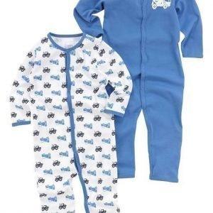 Name it Pyjama 2-Pakkaus Sininen Kuvioitu