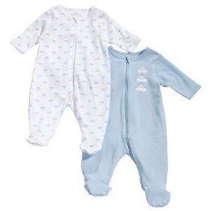 Name it Pyjama 2-Pakkaus Vaaleansininen Kuvioitu