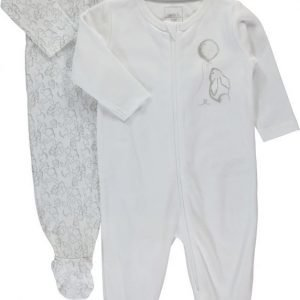Name it Pyjama 2-pakkaus Baby Bright White