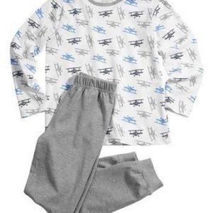 Name it Pyjama Kuvioitu Mel. harmaa