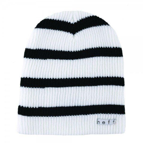 Neff Daily Stripe hattu valkoinen / musta