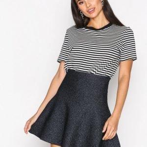 Neo Noir Hanna Lurex Skirt Minihame Navy