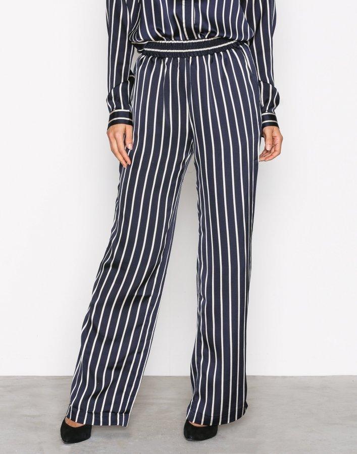finest selection 9877e ea103 Neo Noir Lina Stripe Pants Housut Navy