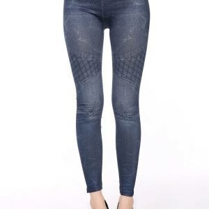 Net blue jeans print leggings