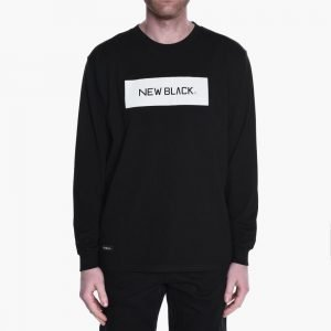 New Black Landscape Logo Long Sleeve