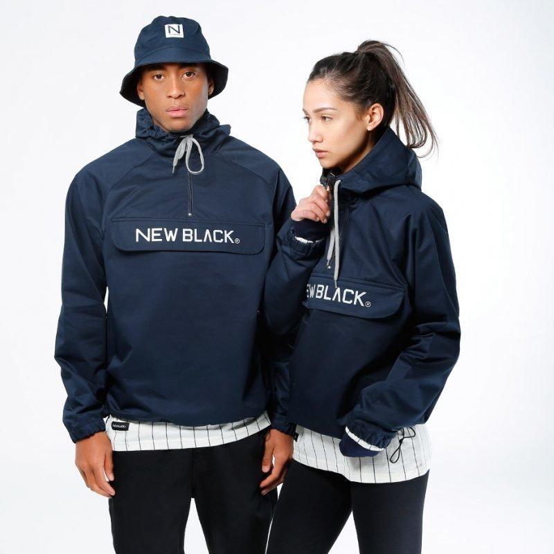 New Black Logo Anorak -takki