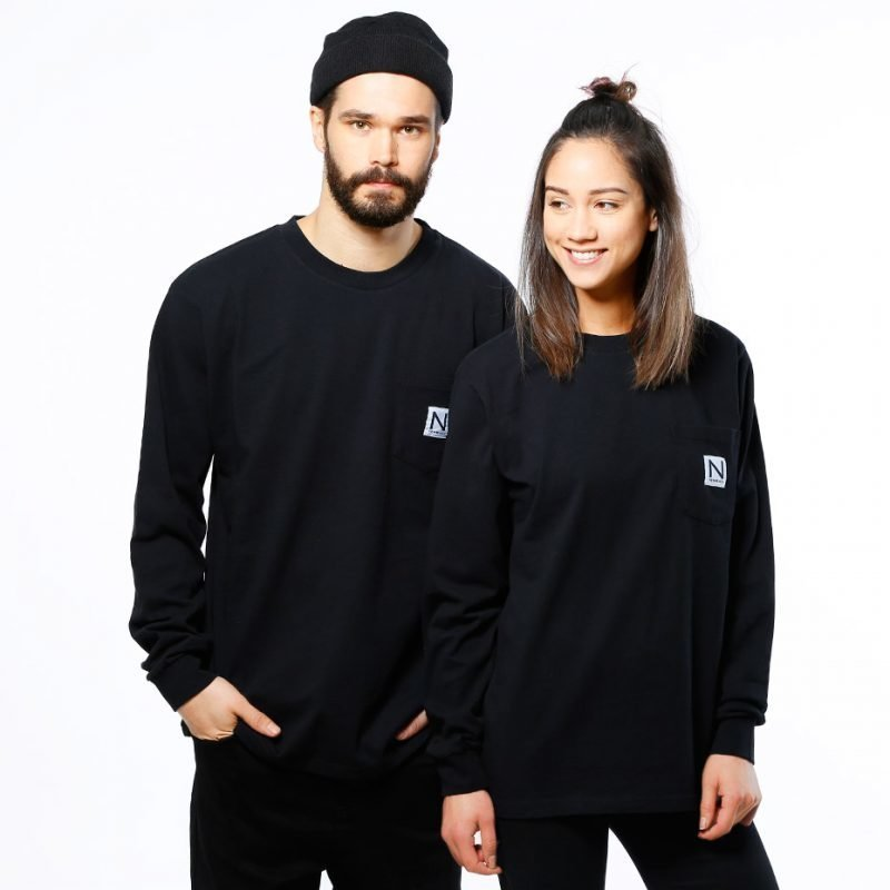 New Black Pocket -longsleeve
