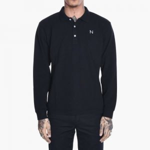 New Black Polo Long Sleeve Tee Shirt