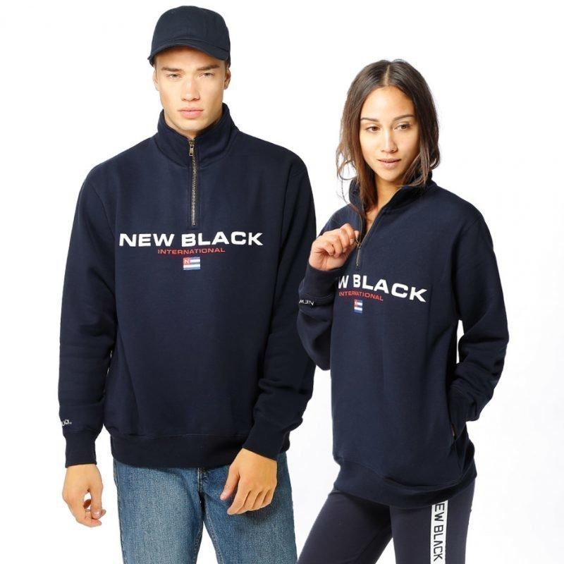 New Black Sports Half Zip -paita