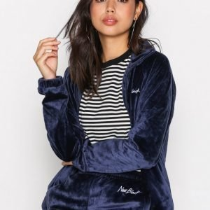 New Black Velour Tracksuit Jacket Bomber Takki Navy