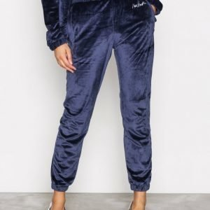 New Black Velour Tracksuit Pants Housut Navy