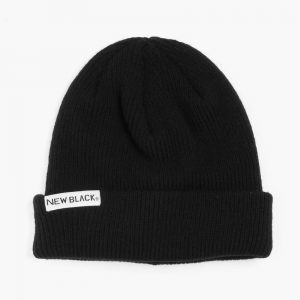 New Black Wool Beanie