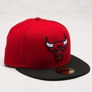New Era 59 Fifty Chicago Bulls Red/Black