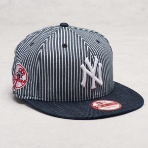 New Era 9 Fifty Pinstripe Strap Yankees Navy/Optic White