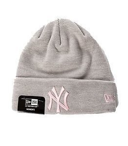 New Era Basic Cuff Knit Heather Grey/Pink