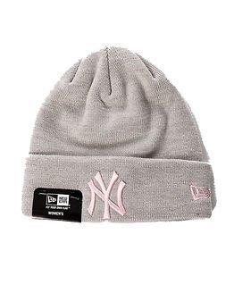 New Era Basic Cuff Knit Heather Grey/Pink
