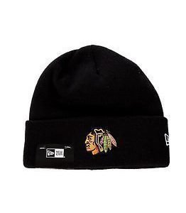 New Era Basic Cuff Knit Nhl Chicago Black Hawks Black