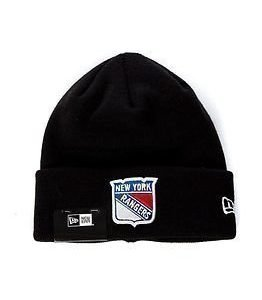 New Era Basic Cuff Knit Nhl New York Rangers Black