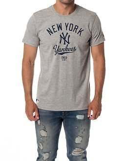 New Era College Tee New York Yankees Light Grey