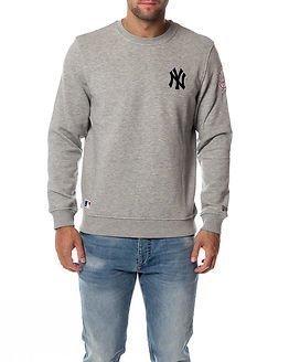 New Era Crew Neck New York Yankees Light Grey