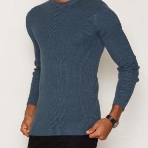 New Look 2x2 Skinny Rib Pusero Blue
