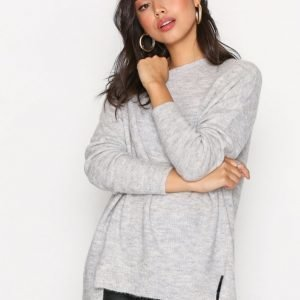 New Look Aspen Longline Jumper Neulepusero Pale Grey