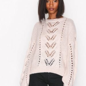 New Look Balloon Sleeve Jumper Neulepusero Light Beige