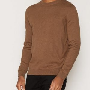New Look Basic Cotton Crew Pusero Light Brown