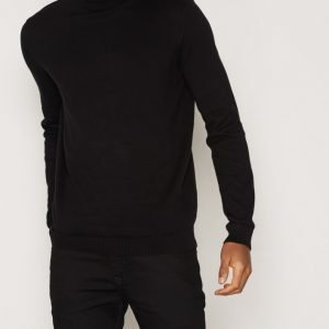 New Look Basic Cotton Roll Neck Pusero Black
