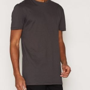 New Look Basic Longline Tee T-paita Charcoal