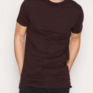 New Look Basic Longline Tee T-paita Dark Purple
