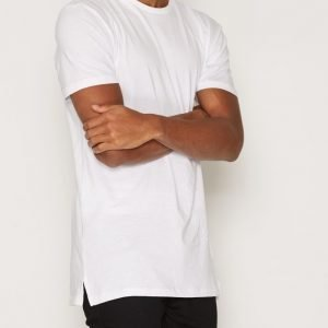 New Look Basic Longline Tee T-paita White
