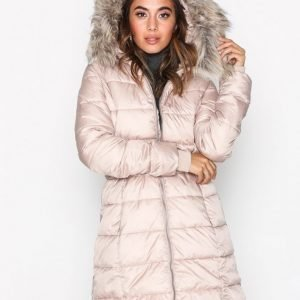 New Look Belted Puffer Jacket Untuvatakki Light Beige