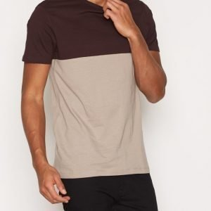 New Look Blocked Tee T-paita Wine